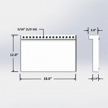 12 in. x 18 in. Dispenser Loose Cold Plate: 8 Product Lines with 1/4″ Barbs
