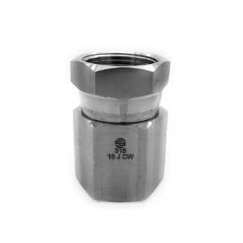 3/8 in. FNPT x 3/8 in. Female NPSM Pipe Swivel, 5300 PSI 316 Stainless Steel Adapter