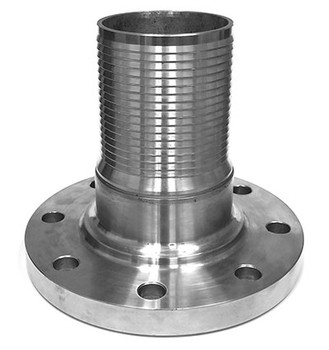 4 in. Crimplok Fixed Flange Nipple, 125-150# 316 Stainless Steel Combination Hose Fitting