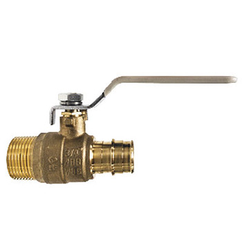 1 in. MNPT x 1 in. PEX Cold Expansion, Lead Free Brass Male Adapter PEX Valve, ASTMF 1960