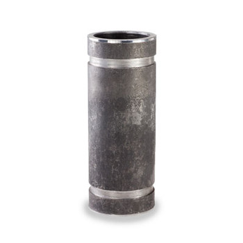 """2-1/2"""" x 4"""" Threaded x Grooved Adapter Nipple, Schedule 40 Seamless Carbon Steel"""