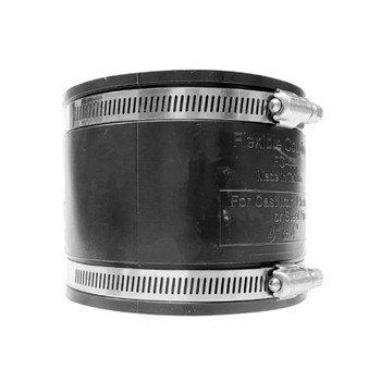 1-1/2 in. Flexible Rubber Coupling (Stainless Steel Band)