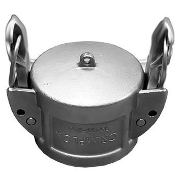 4 in. Dust Cap - Crimplok Self Locking Cam & Groove 316 Stainless Steel