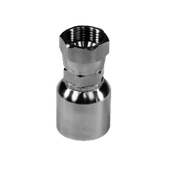 "3/8"" Hose x -4 FJIC Swivel - 43 Series 316 Stainless Steel Crimp Hose Fitting"