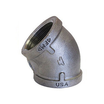 1-1/2 in. 45 Degree Elbow 150# Black Malleable Iron Pipe Fitting - Domestic - UL/FM