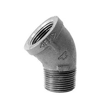 1-1/4 in. 45 Degree Street Elbow 150# Black Malleable Iron Pipe Fitting - Domestic - UL/FM