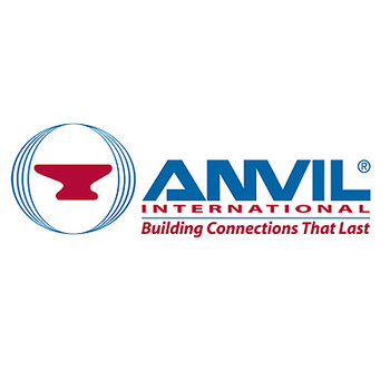 Anvil International 3/8 in. Straight Tee 150# Black Malleable Iron Pipe Fitting - Domestic - UL/FM