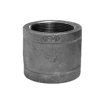 1/2 in. Coupling (Right Hand) 150# Black Malleable Iron Pipe Fitting - Domestic - UL/FM