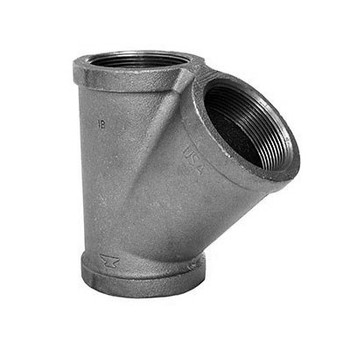 2 in. Lateral Wye 150# Black Malleable Iron Pipe Fitting - Domestic - UL/FM