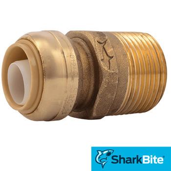 SharkBite Push-Fit Male Adapter 3/4 in. x 1 in. MNPT Straight Lead Free Brass