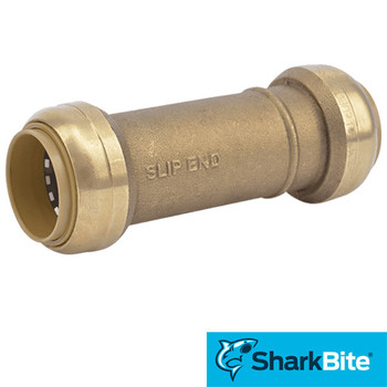 Sharkbite Repair Push Slip Coupling - Lead Free Brass 1 in. x 1 in.