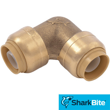 SharkBite Push-Fit - Lead Free Brass Plumbing Fitting - 1/2 in. x 1/2 in. 90 Degree Elbow