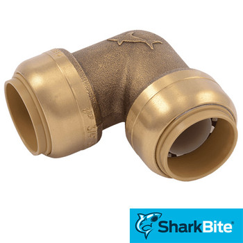 3/4 in. x 3/4 in. 90 Degree Elbow SharkBite Push-Fit - Lead Free Brass Plumbing Fitting