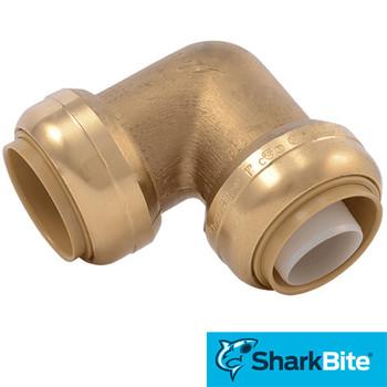 SharkBite Push-Fit 1 in. x 1 in. 90 Degree Elbow  - Lead Free Brass Plumbing Fitting