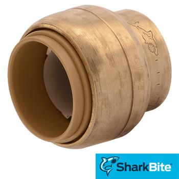 SharkBite Brass Push Cap - Lead Free Brass Plumbing Fitting 3/4 in.