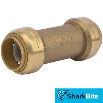 3/4 in. x 3/4 in. SharkBite Check Valve - Lead Free Brass Plumbing Valve