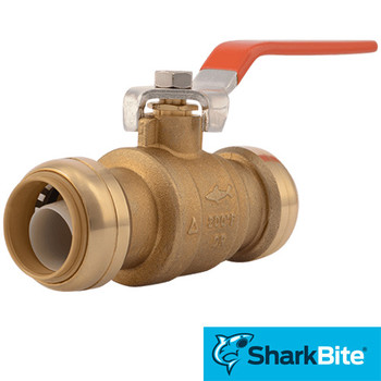 SharkBite Ball Valve - 1/2 in. x 1/2 in.  Lead Free Brass Plumbing Valve