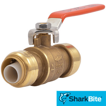 SharkBite Ball Valve - 1 in. x 1 in.  Lead Free Brass Plumbing Valve
