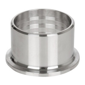 6 in. Roll-On Ferrule (14RMP) 304 Stainless Steel Sanitary Clamp Fitting (3A)