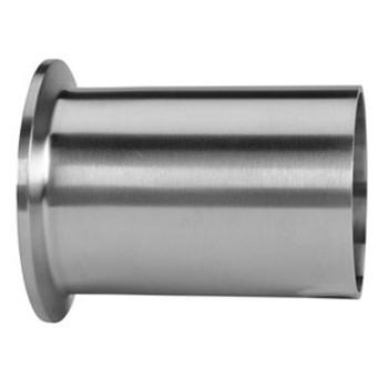 1/2 in. Tank Ferrule - Light Duty (14WLMP) 316L Stainless Steel Sanitary Clamp Fitting (3A) View 2