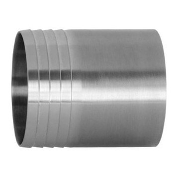 2-1/2 in. Weld Hose Adapter - 14WHR - 316L Stainless Steel Sanitary Polished Butt Weld Fitting
