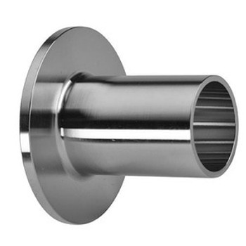 10 in. Unpolished Type A Stub End (14VB-UNPOL) 316L Stainless Steel Tube OD Fitting