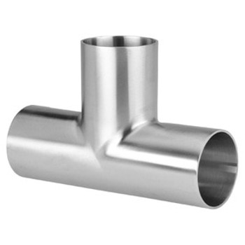 2 in. Polished Long Weld Tee (7W) 304 Stainless Steel Sanitary Butt Weld Fitting (3-A)