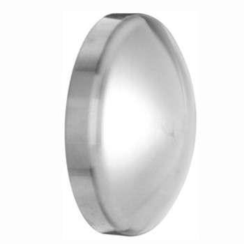 2-1/2 in. Polished Dome Cap (16W) 316L Stainless Steel Sanitary Butt Weld Fitting
