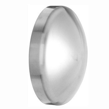 12 in. Polished Dome Cap (16W) 316L Stainless Steel Sanitary Butt Weld Fitting