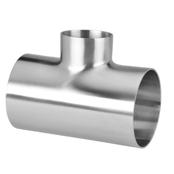 8 in. x 6 in. Polished Short Reducing Short Weld Tee - 7RWWW - 316L Stainless Steel Butt Weld Fitting (3-A)