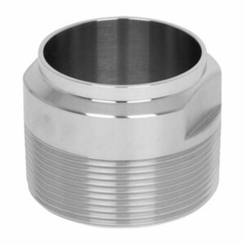 6 in. Unpolished Male NPT x Weld End Adapter (19WB-UNPOL) 316L Stainless Steel Tube OD Fitting
