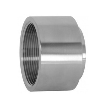 6 in. Unpolished Female NPT x Weld End Adapter (22WB-UNPOL) 316L Stainless Steel Tube OD Fitting