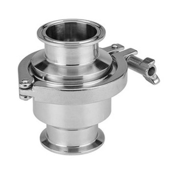 4 in. Spring Loaded Check Valve - Silicone Seat (45MP) 316L Stainless Steel Sanitary Valve (3-A)