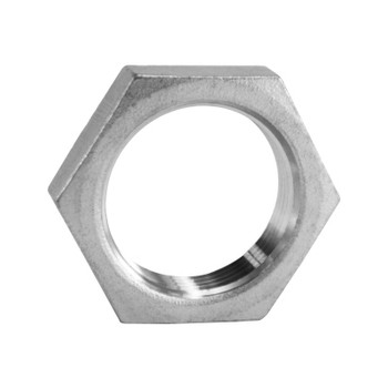 2-1/2 in. Hex Lock Nut - NPS (Straight) Threaded 150# 316 Stainless Steel Pipe Fitting
