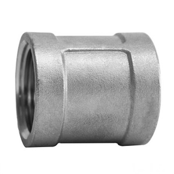 1/2 in. Banded Coupling - 150# NPT Threaded 316 Stainless Steel Pipe Fitting