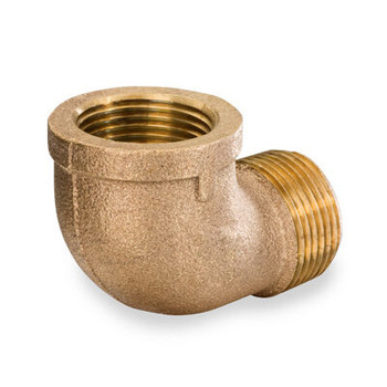 3/8 in. 90 Degree Street Elbow - NPT Threaded - 125# Bronze Pipe Fitting - UL Listed