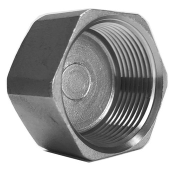 3/8 in. Hex Head Cap - 150# NPT Threaded 316 Stainless Steel Pipe Fitting