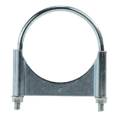 4-1/2 in  Guillotine Style U-Bolt Muffler Hose Clamps, Zinc Plated Carbon  Steel Corrosion Resistant, Complete 360 Deg  Heavy Duty Seal