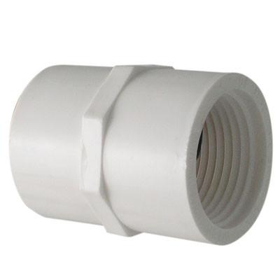 1-1/4 in  PVC Slip x FIP Adapter, PVC Schedule 40 Pipe Fitting, NSF 61  Certified