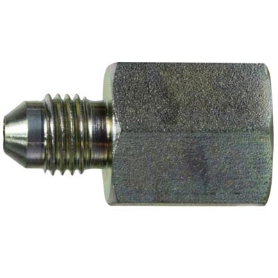 AN-6 MALE to AN-4 MALE JIC BLACK FLARE REDUCER//EXPANDER Oil Hose Fitting Adapter