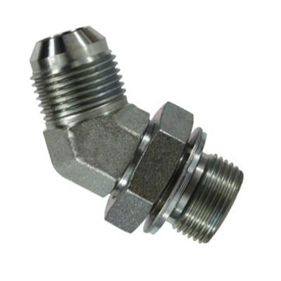 1-1/16-12 JIC x 3/4-14 Male BSPP Steel 45 Degree Elbow Hydraulic Adapter