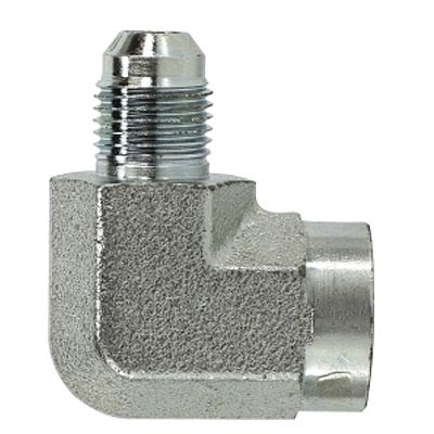 9/16-18 JIC x 1/4 in  Female Pipe Steel JIC Female Elbow Hydraulic Adapter  & Fitting