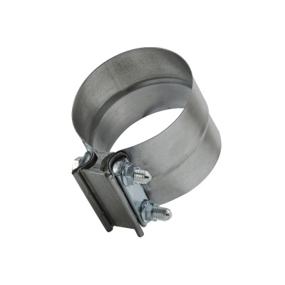 """2Pc 2.5/"""" Stainless Steel Lap Joint Band Seal Exhaust Clamp Exhaust Muffler Clamp"""
