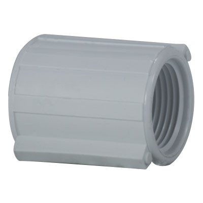 1/2 in  PVC Threaded Coupling, PVC Schedule 40 Pipe Fitting, NSF 61  Certified
