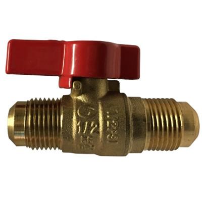"""CSA Natural Gas or Propane 1/"""" IPS Brass Gas Ball Valve Shut-Off Valves"""