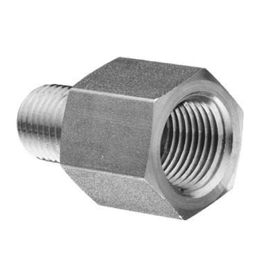 Stainless Steel Fittings High Pressure Threaded 1 2 Female X 1 4 Male Reducing Adapter 4500 Psi