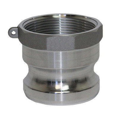 2 Female Coupler x 2 Male NPT USA Sealing Cam and Groove Fitting Type B Aluminum