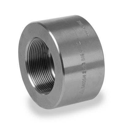 3/8 in  3000# NPT Threaded Half Coupling Forged Carbon Steel Pipe Fitting