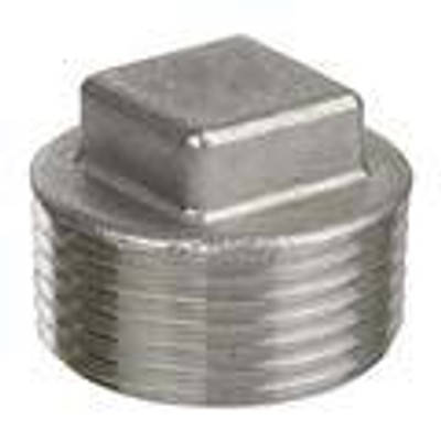 Pipe Fittings - Stainless Steel Square Head Plugs, 150# NPT