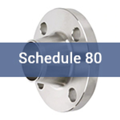 Stainless Steel Pipe Flanges - ANSI 150# ANSI Weld Neck Sch  80